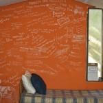 Wildlife ACT's volunteer message board in iMfolozi
