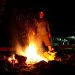 Camp fire at Mkhuze volunteer camp