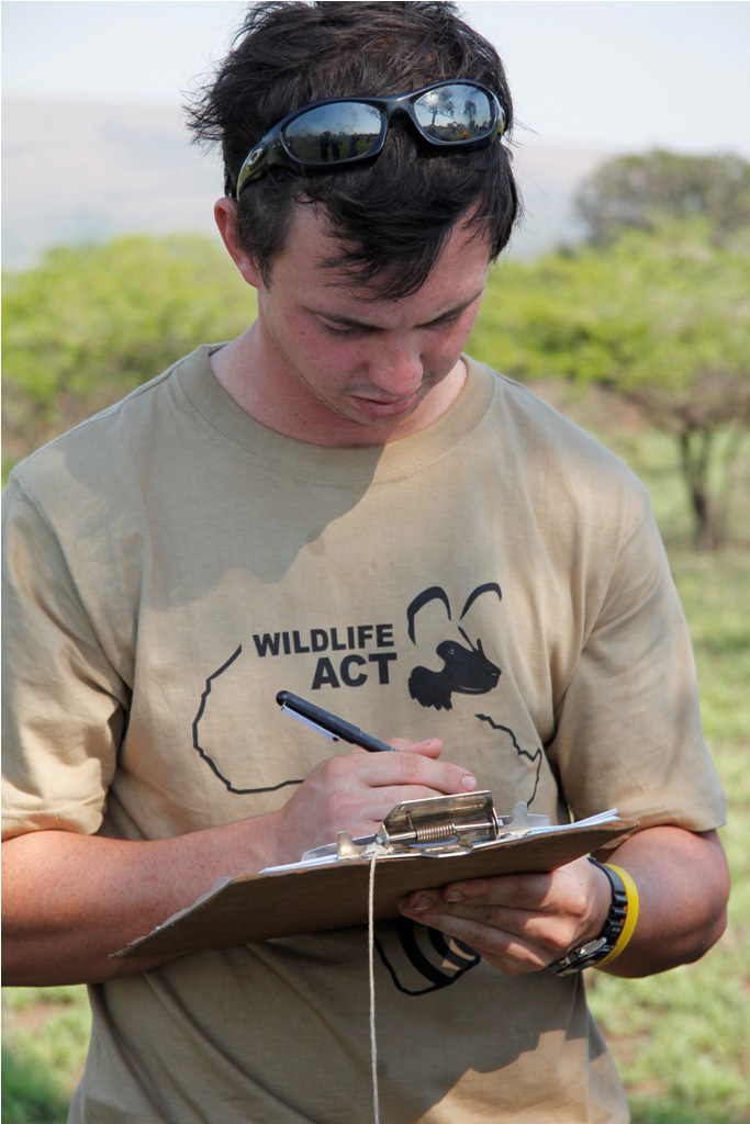 Endangered wildlife monitor, Cole, from Wildlife ACT