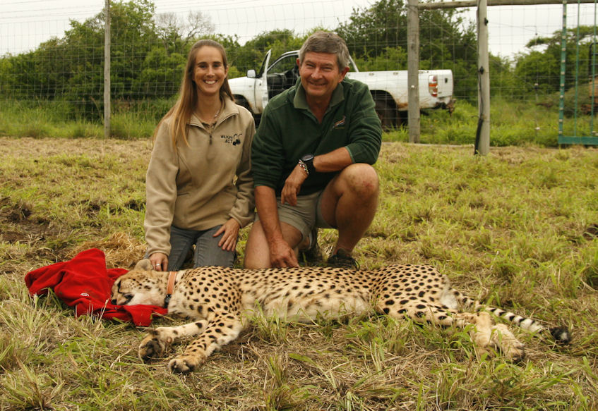 Mike and Michelle with new Cheetah female