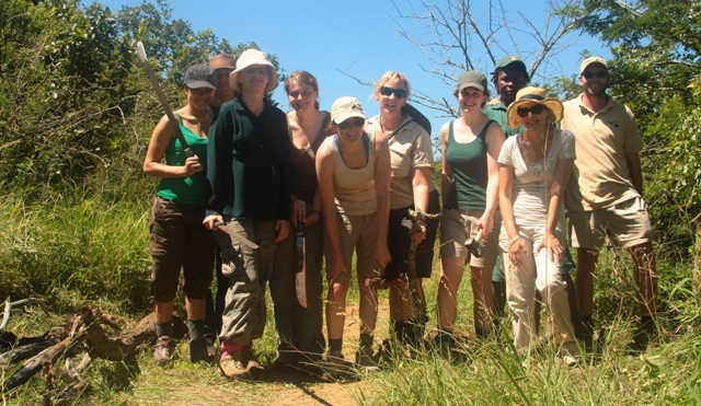 The full team for the day in Hluhluwe - leopard census