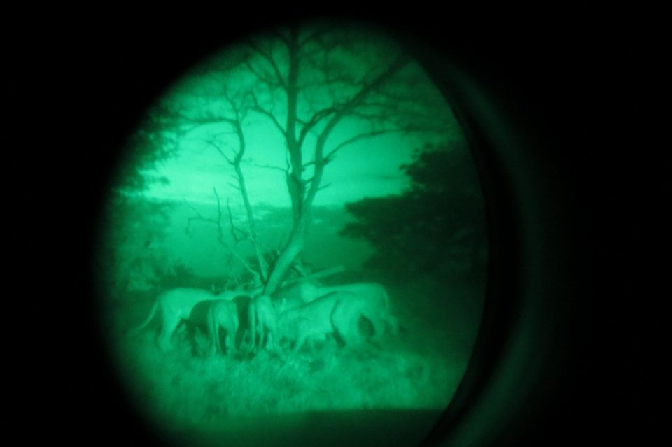 Wildlife ACT and EKZN Wildlife staff on occasion have access to night vision equipment