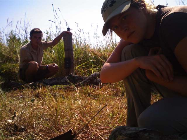 Conservation volunteer Joe and Katie - Panthera Leopard Census