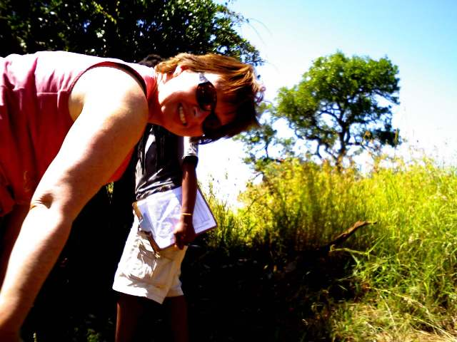 Conservation volunteer Lizzie - Panthera Leopard Census