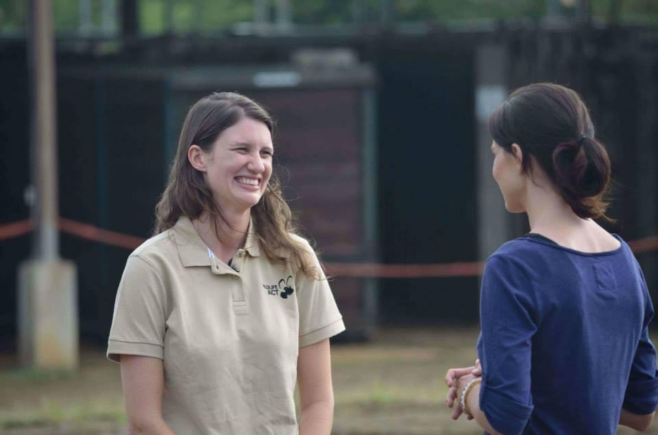 Christie Fynn Morgan of Wildlife ACT Fund being interviewd by 50 50