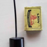 Internal VHF transmitter compared to a matchbox