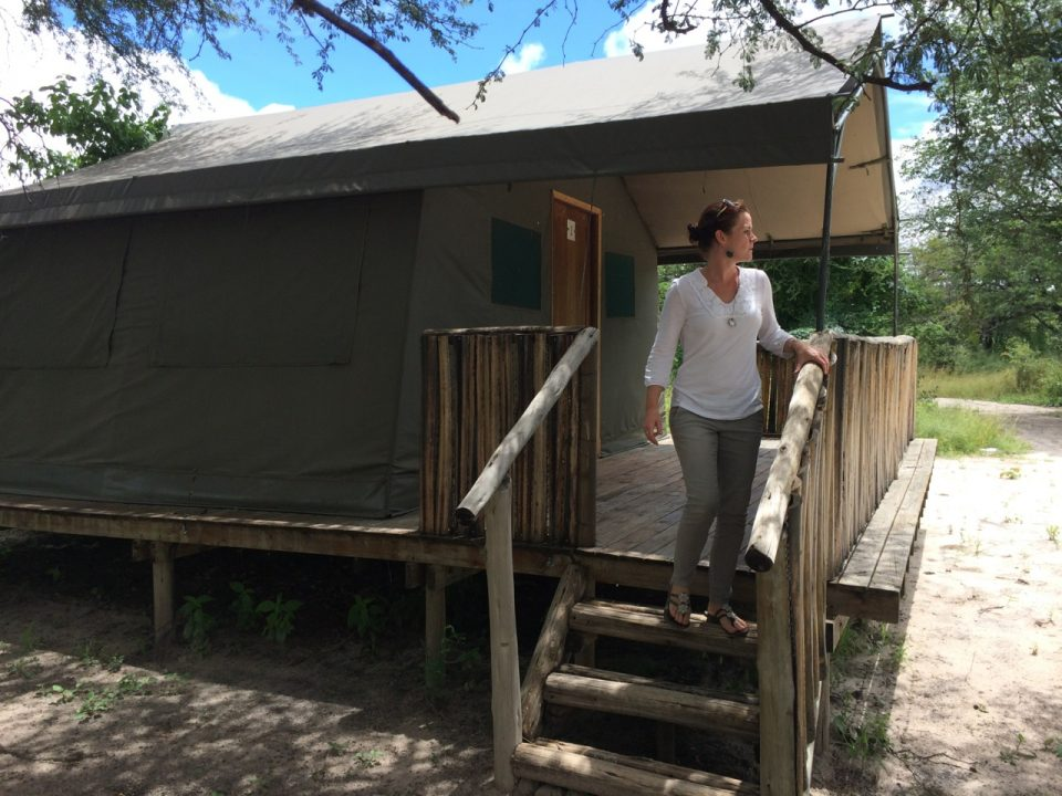 Robyn checking out a possible Wildlife ACT basecamp in Botswana
