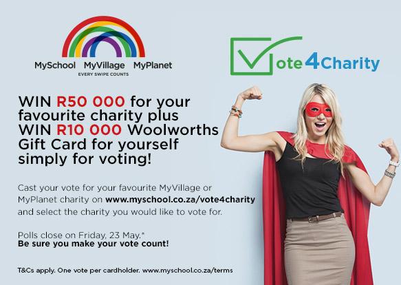Woolworths Vote4Charity MyVillage MyPlanet