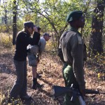 Tracking black rhino on foot