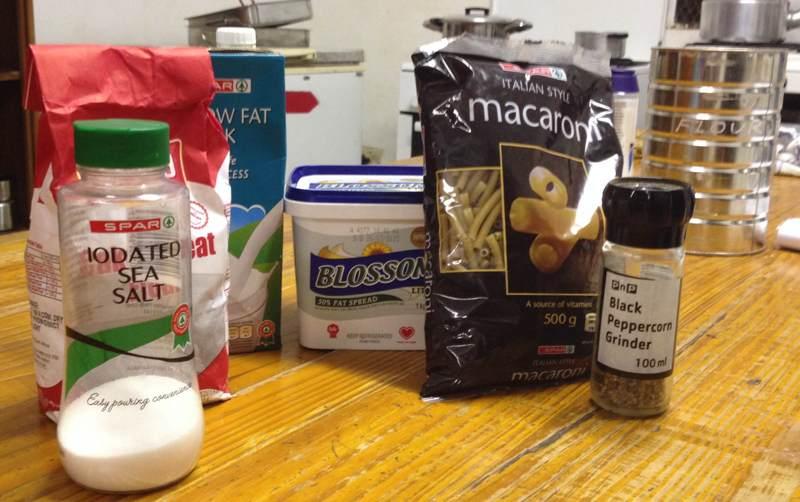 Mac 'n' Cheese Ingredients
