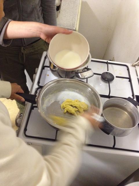 Stirring the roux