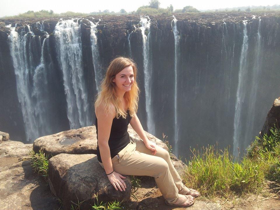 Nadine at Victoria Falls