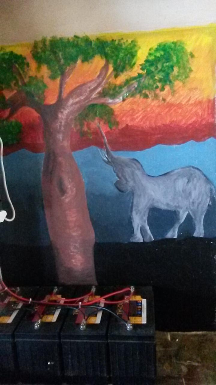 Zululand Rhino Reserve painting
