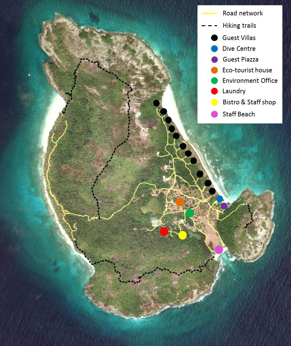 Map of North Island - a haven for marine conservation