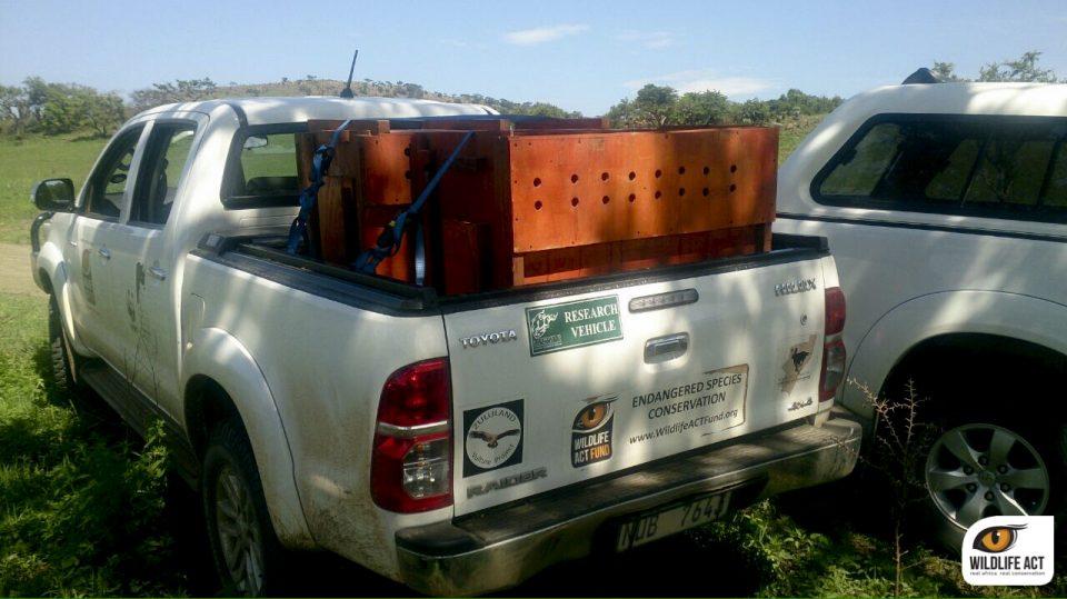 loaded onto the Wildlife ACT bakkie