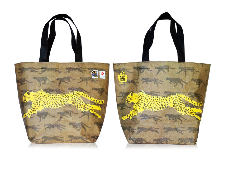 Cheetah Wooloworths Bag - contribute to cheetah conservation