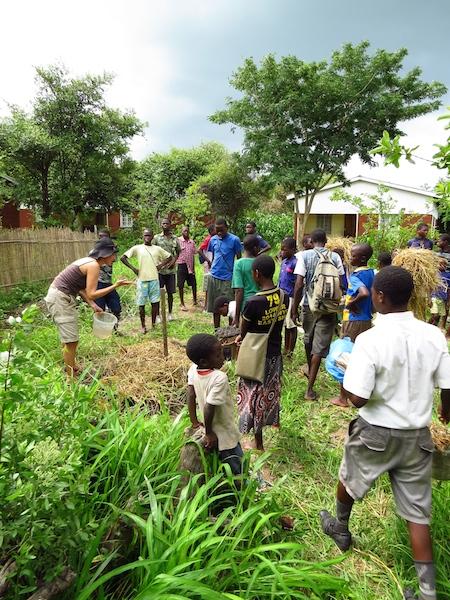 teaching the local community, malawi