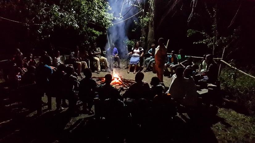 Community Bush Camp Campfire