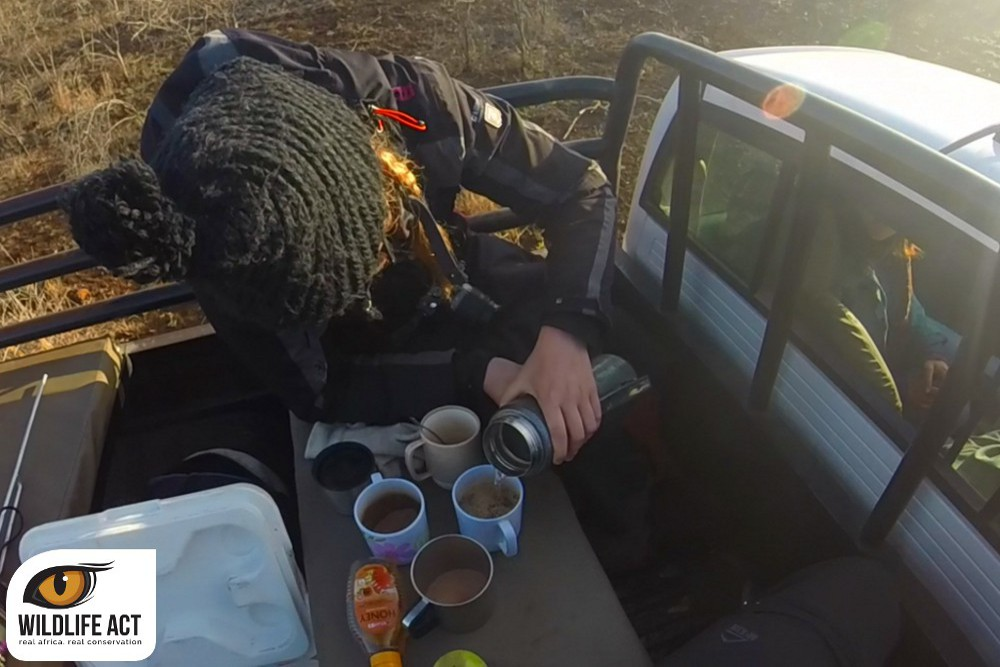 Zululand Rhino Reserve. A much-needed caffeine fix! (All photos by Johannes Freese)