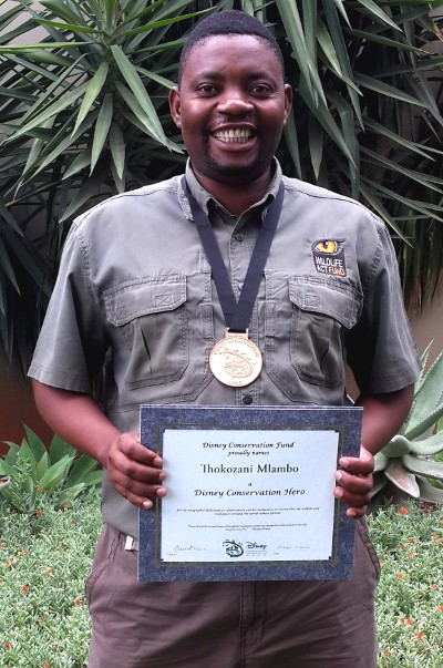 Disney Conservation Hero, Thokozani Mlambo.