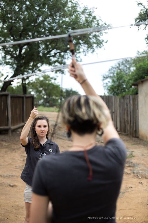 Teaching Volunteer how to use Telemetry. Photo by Chantelle Melzer