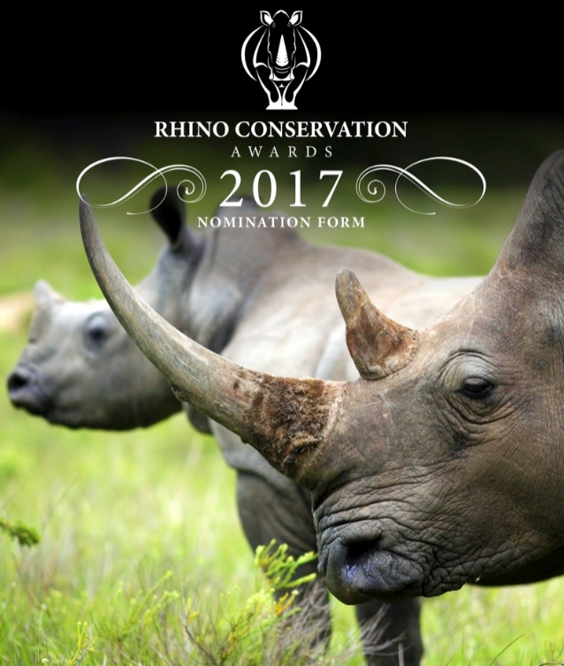 Rhino Conservation Awards 2017 Poster