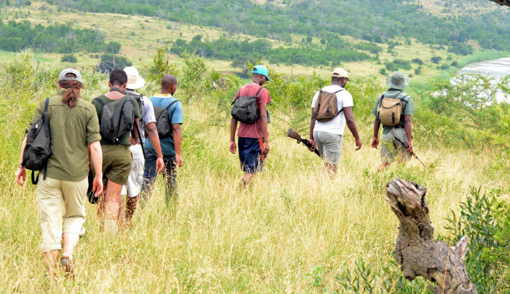 Setting off on the iMfolozi Wilderness Trail