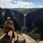 Bram van Schaffelaar at Maletsunyane Falls in Lesotho.