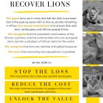 Declaration to Recover Lions Poster