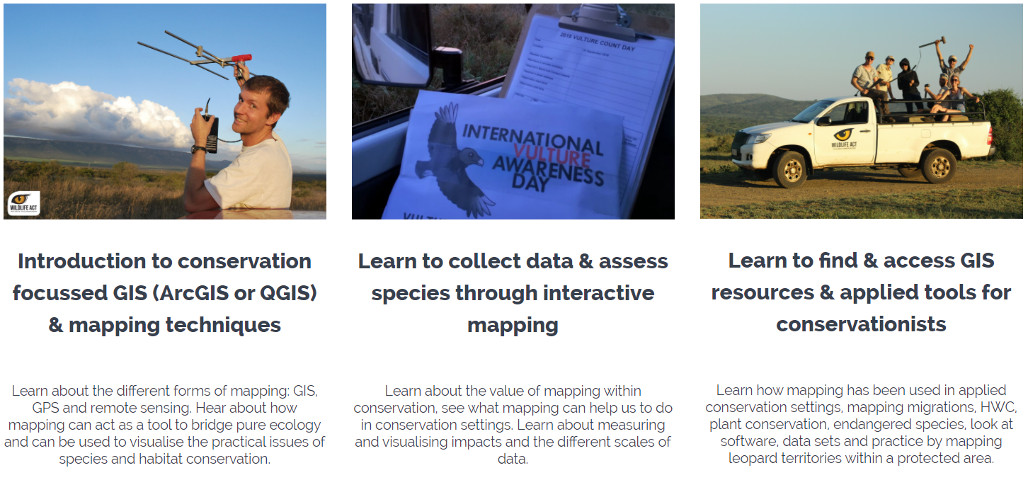 Online Conservation Courses - Mapping as a Tool for Conservationists