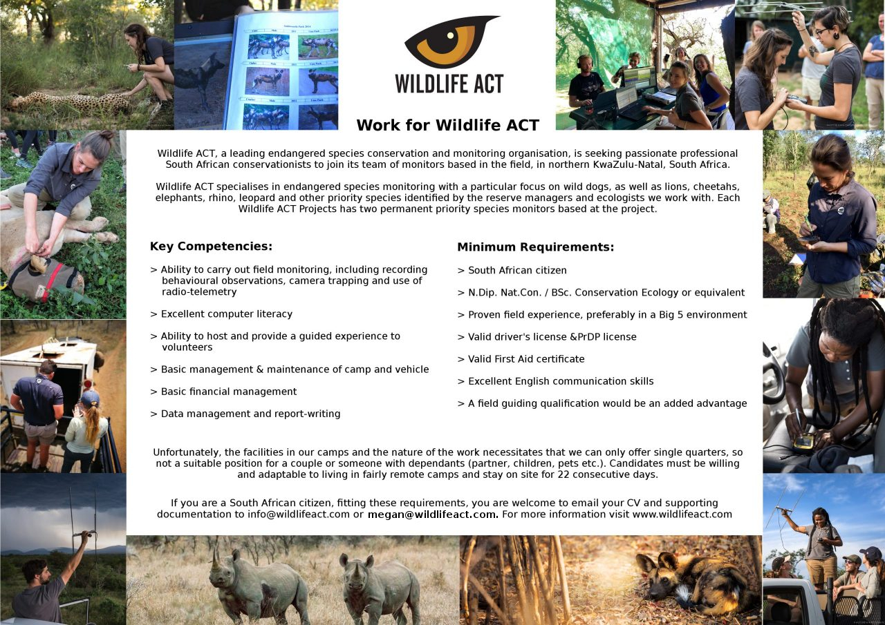 Work for Wildlife ACT Flyer